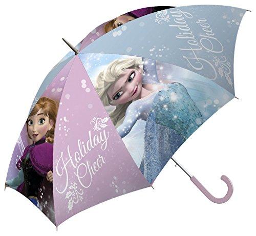 Kids Frozen Klassischer Regenschirm, 65 cm, Blau und Lila