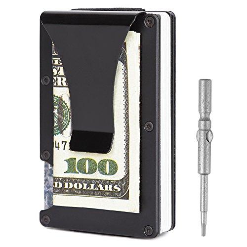 Teemzone Cartera Tarjetero Hombre de Fibra de Carbono con RFID Bloqueo también Monedero de Carteras y tarjeteros para Tarjetas de Crédito