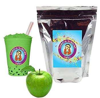 Green Apple Boba / Bubble Tea Drink Mix Powder By Buddha Bubbles Boba 1 Pound  16 Ounces     453 Grams