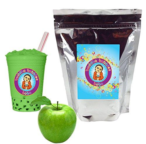 Green Apple Boba / Bubble Tea Drink Mix Powder By Buddha Bubbles Boba 10 Ounces (283 Grams)