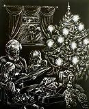 WASO Juego de 4Hobby–Imágenes scrapy arañazos–Navidad diseños/plata * grande *