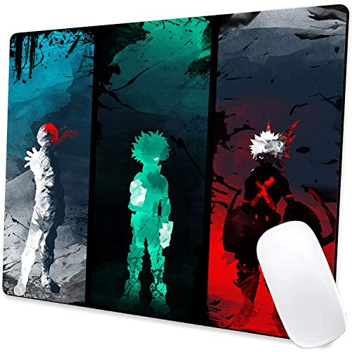 Gaming Mouse Pad,Anime Todoroki and Deku Mouse Pad Non-Slip Rubber Base Mouse Pads for Computers Laptop Office,9.5'x7.9'x0.12' Inch(240mm x 200mm x 3mm)