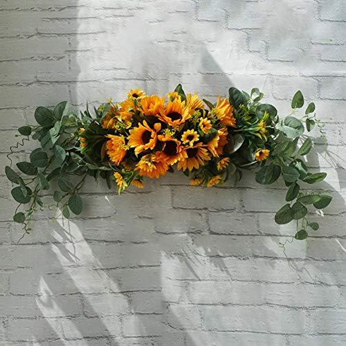 Whiie891203 - Guirnalda de Flores Artificiales para decoración de Bodas, centros de Mesa Florales para el hogar, Cocina, jardín, Fiesta, Bricolaje