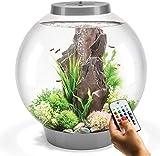 biOrb Classic 60L Aquarium in Silver with MCR LED Lighting & Heater Pack