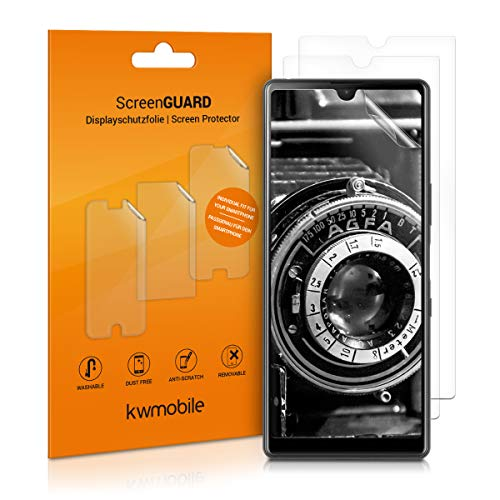 kwmobile 3X Folie kompatibel mit Sony Xperia L4 - klare Bildschirmschutzfolie Bildschirmschutz transparent Bildschirmfolie Schutzfolie