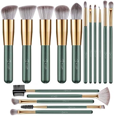 BESTOPE Makeup Brushes 16 PCs Makeup Brush Set Premium Synthetic Foundation Brush Blending Face product image