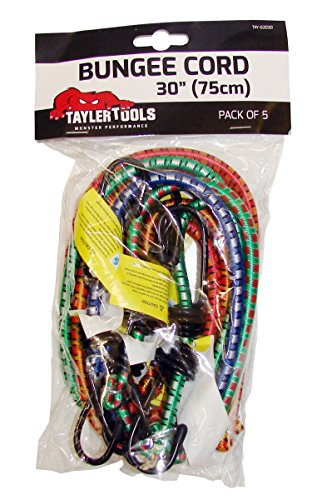 Taylor Tools TAY-62030 Heavy Duty Bungee Cord 75cm/30 5 Pack, Set of 5...