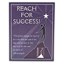Pinmart 's Reach For Successプレゼンテーションカードとラペルピン 100