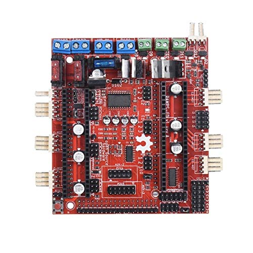 QOHFLD Accesorios de Impresora Placa controladora, Placa Base para Impresora 3D Reprap Ramps-Fd Shield Ramps 1.4 Placa de Control Compatible con Arduino Due 3D Printer Co (Color: Rojo) (Color : Red)