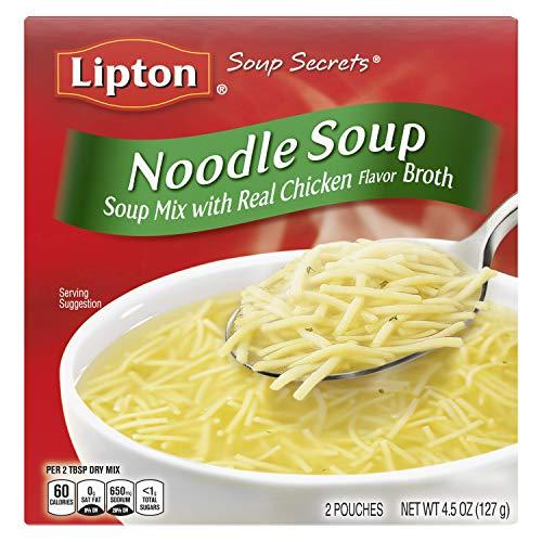 Lipton Instant Soup Mix, Noodle, 4.5 oz, pack of 12