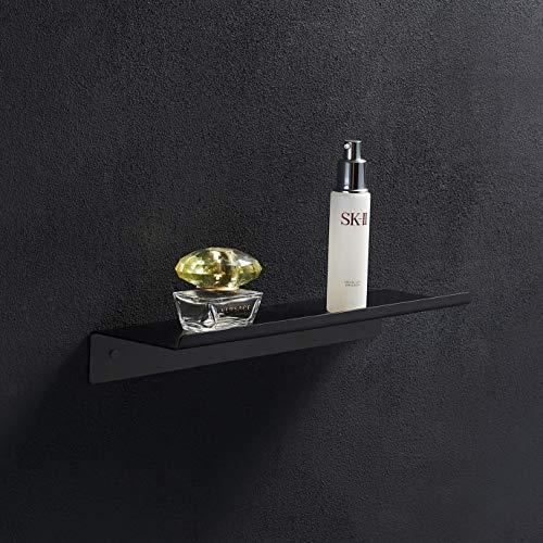 BGL - Mensola da bagno da parete, colore nero opaco, per uso quotidiano, in acciaio inox 304, facile da installare per cucina/doccia e soggiorno/ufficio