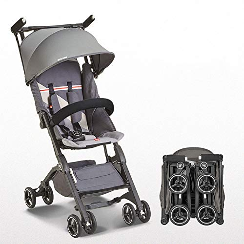 Cheapest Price! GXGX Compact Travel Stroller, for Flight Boarding Outdoor and Travel – Can be Put in The Suitcase – 6 to 36 Months Age,Gray