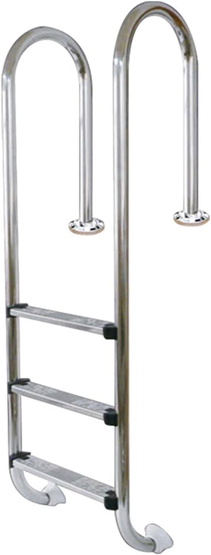 HHXD Pool Escalera de Seguridad Acero Inoxidable Antióxido Escalera de Piscina Con Peldaños Antideslizantes/Thickness 0.1cm / W50cm*H150cm