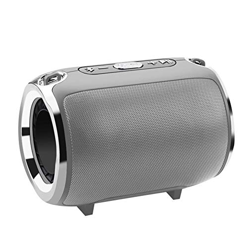 DKee. Grau drahtlose Bluetooth-Stereo-Lautsprecher Bünde Subwoofer-Lautsprecher HiFi tragbare Boombox Unterstützung FM Radio TF AUX USB