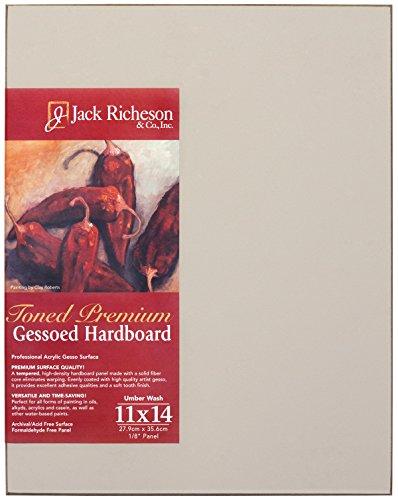 Jack Richeson Umber Wash Gessoed 1/8 Hardboard 11