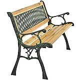 ArtLife 2-Sitzer Gartenbank Pisa aus lackiertem Holz & Gusseisen - 4