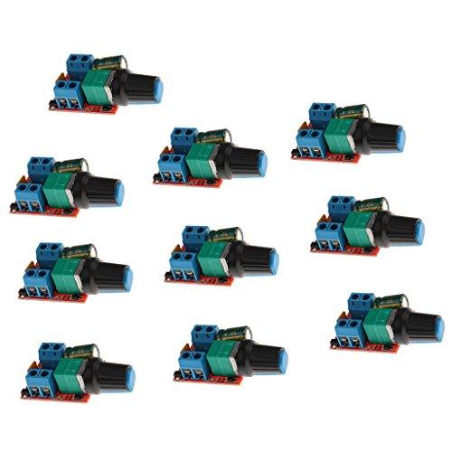 Baoblaze 3V-35V 5A Pulse Breite PWM DC Motor Speed Controller Switch Set/10Stück