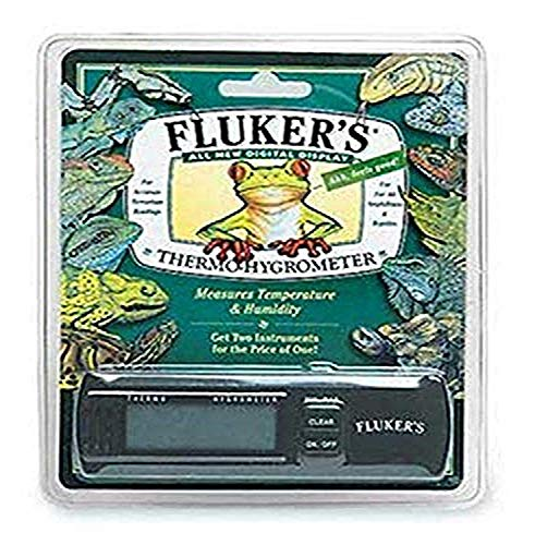 Fluker's Termómetro higrómetro digital para reptiles