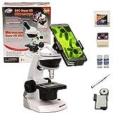 CFtrum Kit de Microscopio con el Adaptador del Smartphone para capturar Cuadros de la...