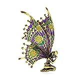 Broches Pin para Mujeres Vintage Rhinestone Broche Capa de...