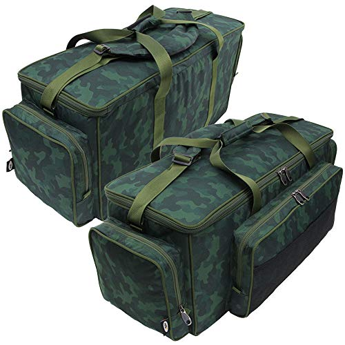 DNA Leisure Deluxe Large Carp Coarse Fishing Camping Insulated Green Tackle Carryall Food Bag in NEW CAMO