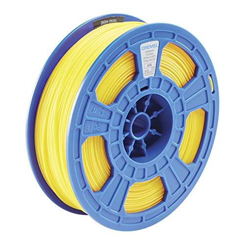 Dremel DigiLab PLA-YEL-01 3D Printer Filament, 1.75 mm Diameter, 0.75 kg Spool Weight, Color Yellow, RFID Enabled, New Formula and 50 Percent More per Spool