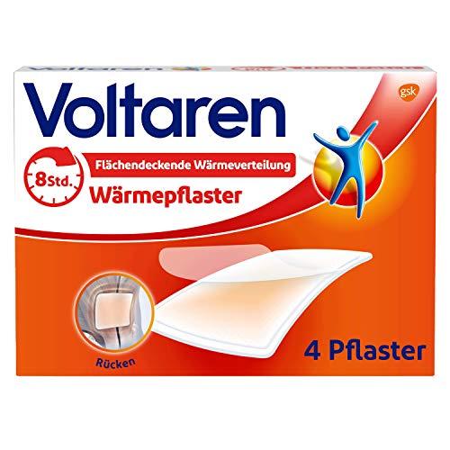 Voltaren Wärmepflaster ohne Arzneimittelwirkstoff für langanhaltende Schmerzlinderung für Rücken, Nacken, Schultern, 4 Pflaster