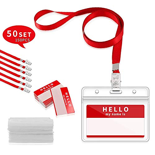 5 x  Schlüsselband Lanyard mit Kartenhülle Ausweishalter Namensschild  neu