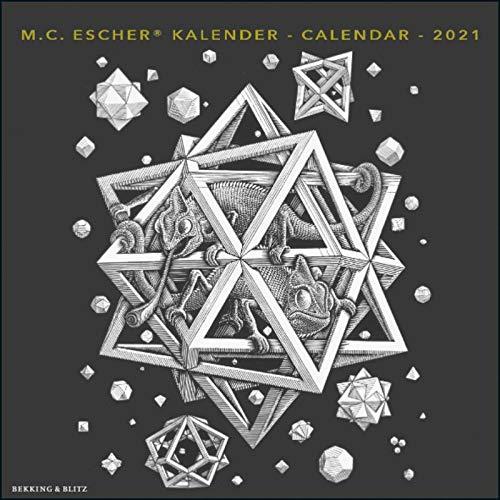 2021年 ラージカレンダー「ESCHER/エッシャー」 壁掛け 画家 風景 アート スケジュール 英語 オランダ語 輸入雑貨(KA21030)