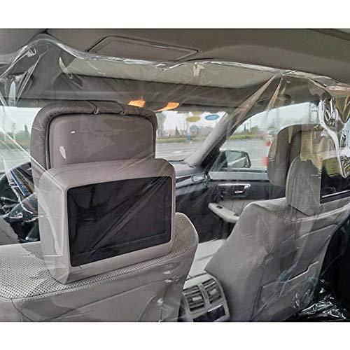 KKmoon Auto Schutzfolie Isolationsfolie Anti Tröpfchen vollständig geschlossener transparenter Isolation Vorhang Schutzfolie versiegelt Selbstklebender Trennvorhang für Autos, Taxis