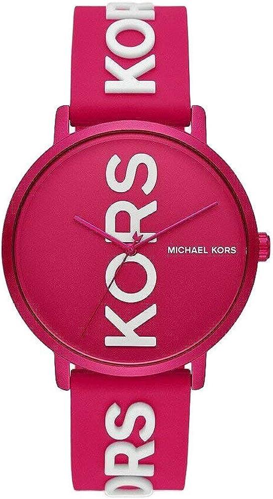 Michael kors, orologio da donna, cassa in alluminio e cinturino in silicone MK4535