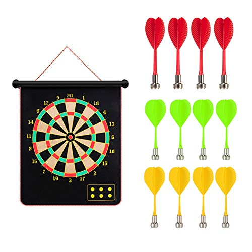 Review Of Ochine Office Leisure Darts Toy Safety Magnetic Dart Board Foldable Double-Sided Board Gam...