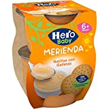 Hero Baby Merienda Puré de Natillas con Galletas para Bebés a partir de 6 meses Pack 2 x 130 g