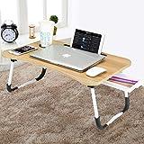 CHARMDI Lap Desk - Tavolino da letto portatile per computer portatile, con gambe pieghevoli e cassetto per riporre il lavoro, scrittura, colore: oro