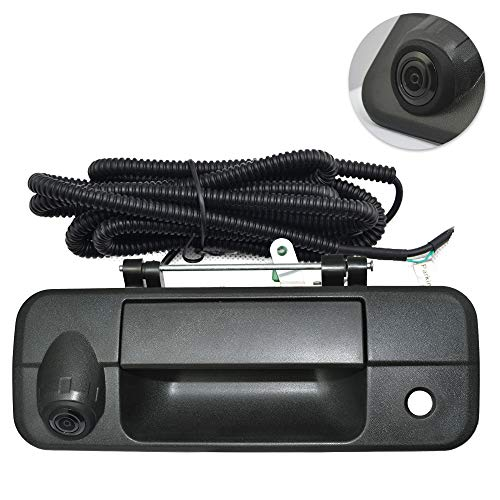 Tailgate Replace Rear View Camera Backup Tailgate Handle Camera for Toyota Tundra(2007 2008 2009 2010 2011 2012 2013),Tailgate Door Handle Replacement Camera(Color: Black) backup Cameras Vehicle