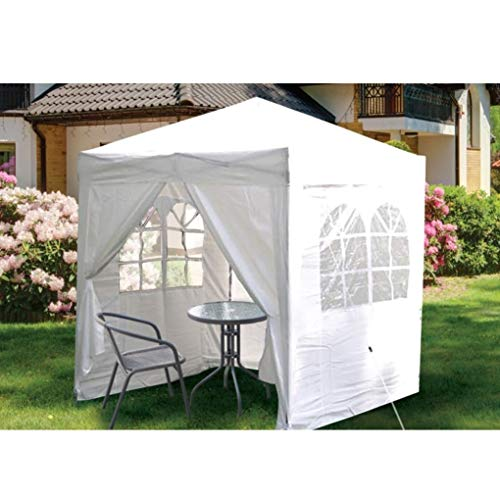 SIAM EXPRESS 2x2m Pop up Gazebo Tent Canopy Marquee With 4 Side Walls Panels Windows Shelter Waterproof Outdoor Garden Party BBQ