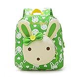 Flyingsky Kaninchen Tiere Kinderbuch Rucksack Baby Schultasche (grün)
