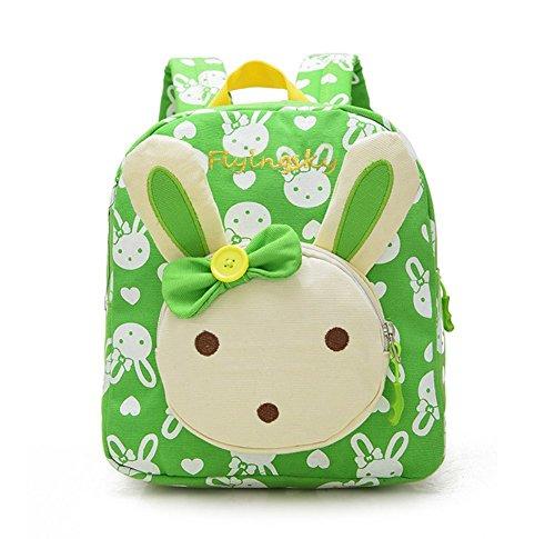 Flyingsky Rabbit Animals Kids Book Backpack Baby Girls School Bag Green