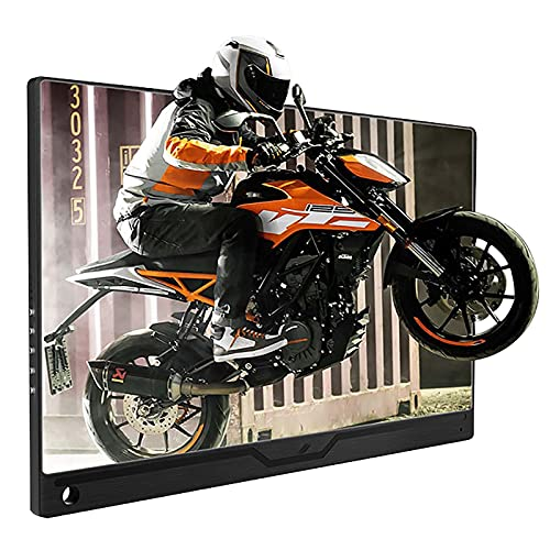 17,3' Tragbarer Monitor 1080P Computerdisplay Eingebauter 8000 MAh Akku Plug &...