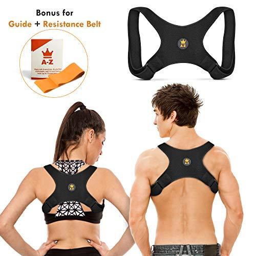 Posture Corrector for Women Men   Approved   Adjustable Upper Back Brace...