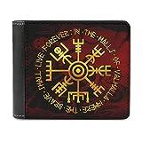Monedero vikingo Odin Runen para hombre, de piel sintética, monedero, tarjetero, tarjetero, tarjetero, billetera, monedero, blanco, talla única,