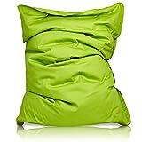 Lumaland Luxury superweicher XXL Sitzsack aus Baumwolle 380l Füllung 140 x 180 cm Indoor Grün