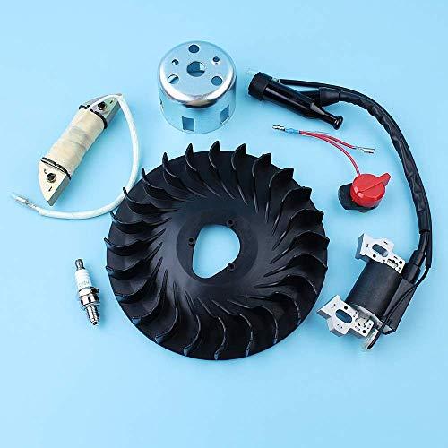 Kit de taza de inicio de interruptor de vela de bobina de encendido de carga de volante compatible con Honda GX160 5.5HP GX200 6.5HP 168F 170F Generator Trimmer