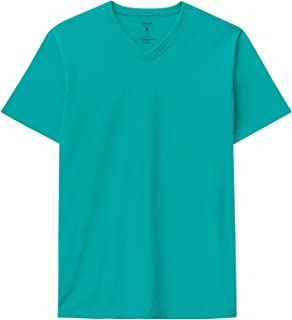 Camiseta Decote V Em Malha Malwee, Azul Turquesa, Masculino, M