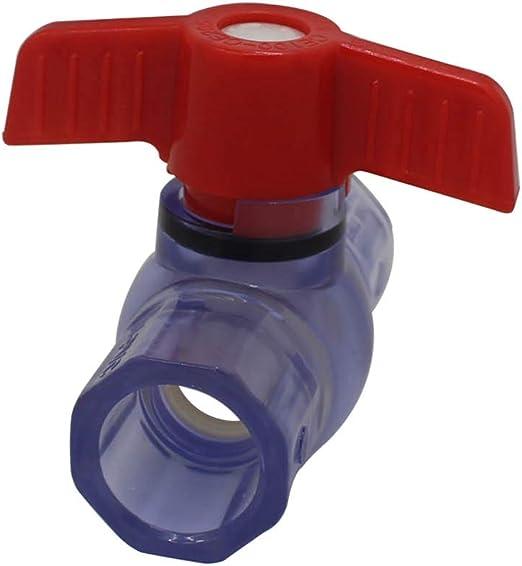 Valve Diametro interno 20//25//32 40mm di slittamento del PVC Valvola a sfera 3 colori opzionale riparazione igienico-sanitaria in PVC-U della valvola a sfera di plastica del connettore del tubo Inter