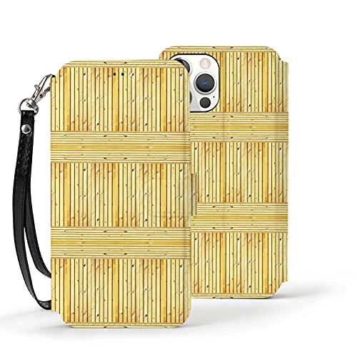 Funda para iPhone 12,Funda Tipo Cartera para iPhone 12 con Tarjetero,Textura de Grano de Madera de Roble Claro,Funda Protectora Interior de TPU a Prueba de Golpes para iPhone 12 de 6.1 Pulgadas
