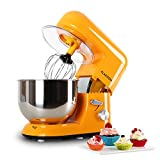 Klarstein Bella Orangina Küchenmaschine Rührgerät (1200 Watt, 5,2 Liter-Rührschüssel, 6-stufige...