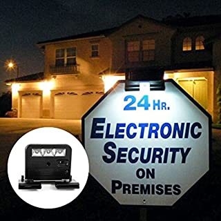 Premium Quality Solar Powered Clip On LED Light for Yard Sign - 3 LEDs - Durable & Weather-Proof Plastic Housing - Ideal for Decks, Handrails, Stairways, Trims, Porches - Screw Brackets Included