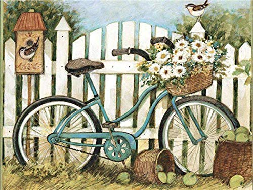 DIY pintura por números kits de lienzo paisaje pintado a mano regalo para colorear por números decoración de bicicletas para el hogar A12 40x50cm