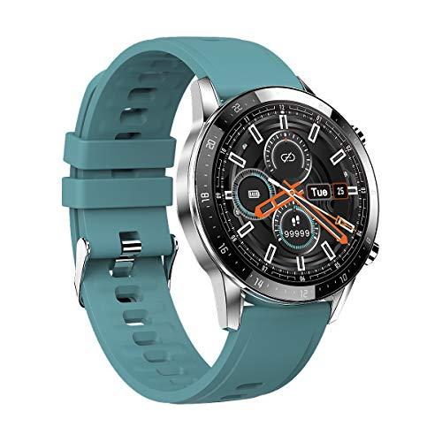 Vapaa Smartwatch für Herren Android Smart Watch mit Anrufannahme, Blutdruck-Herzfrequenz-Monitor, Fitness Tracker Uhr für Musik, 1,3 Zoll IP68 Wasserdicht Sportuhr
